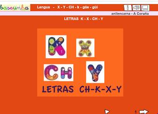 LETRAS K-X-CH-Y