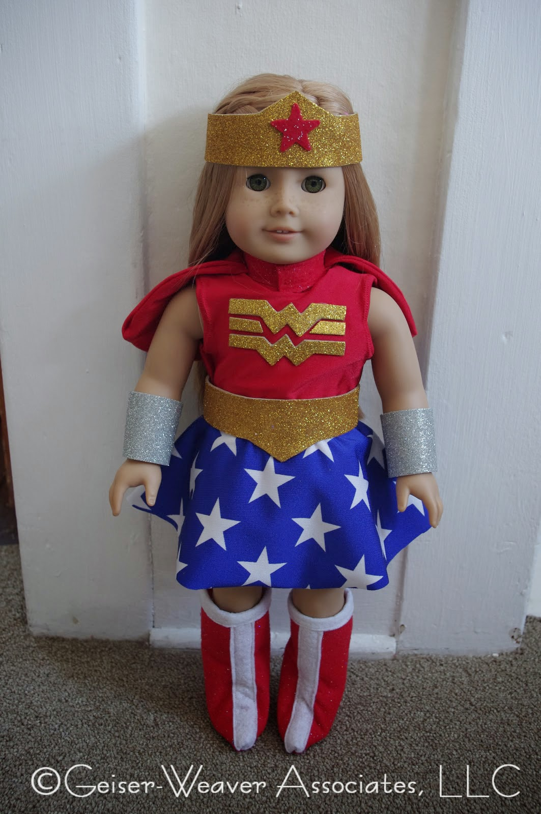 Wonder Woman doll outfit by Geiser-Weaver Associates, LLC