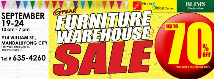 Sogo Home Office Grand Furniture Warehouse Sale Sept 19 To 24 2013 Pamurahan Your Ultimate