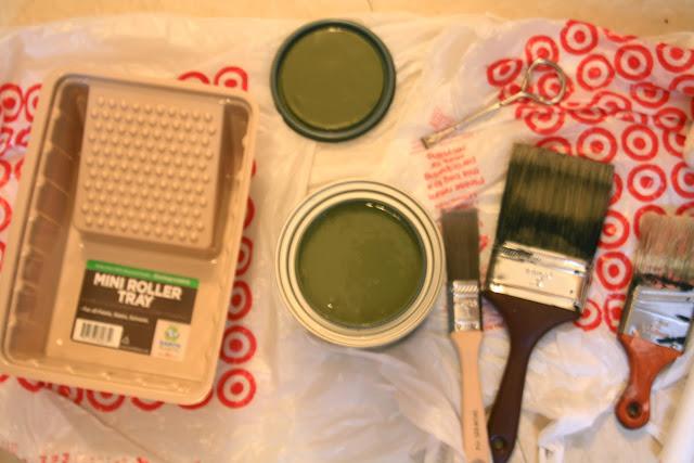 Behr green paint, Alligator Skin