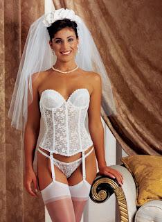 corset branco para noivas