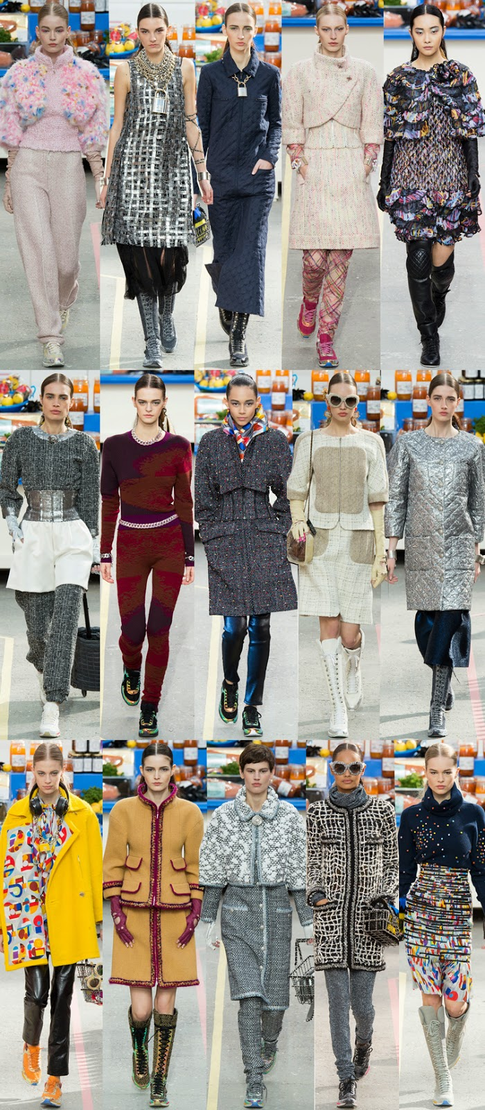 Chanel fall winter 2014 runway collection, PFW, Paris fashion week, FW14, AW14, Karl Lagerfeld