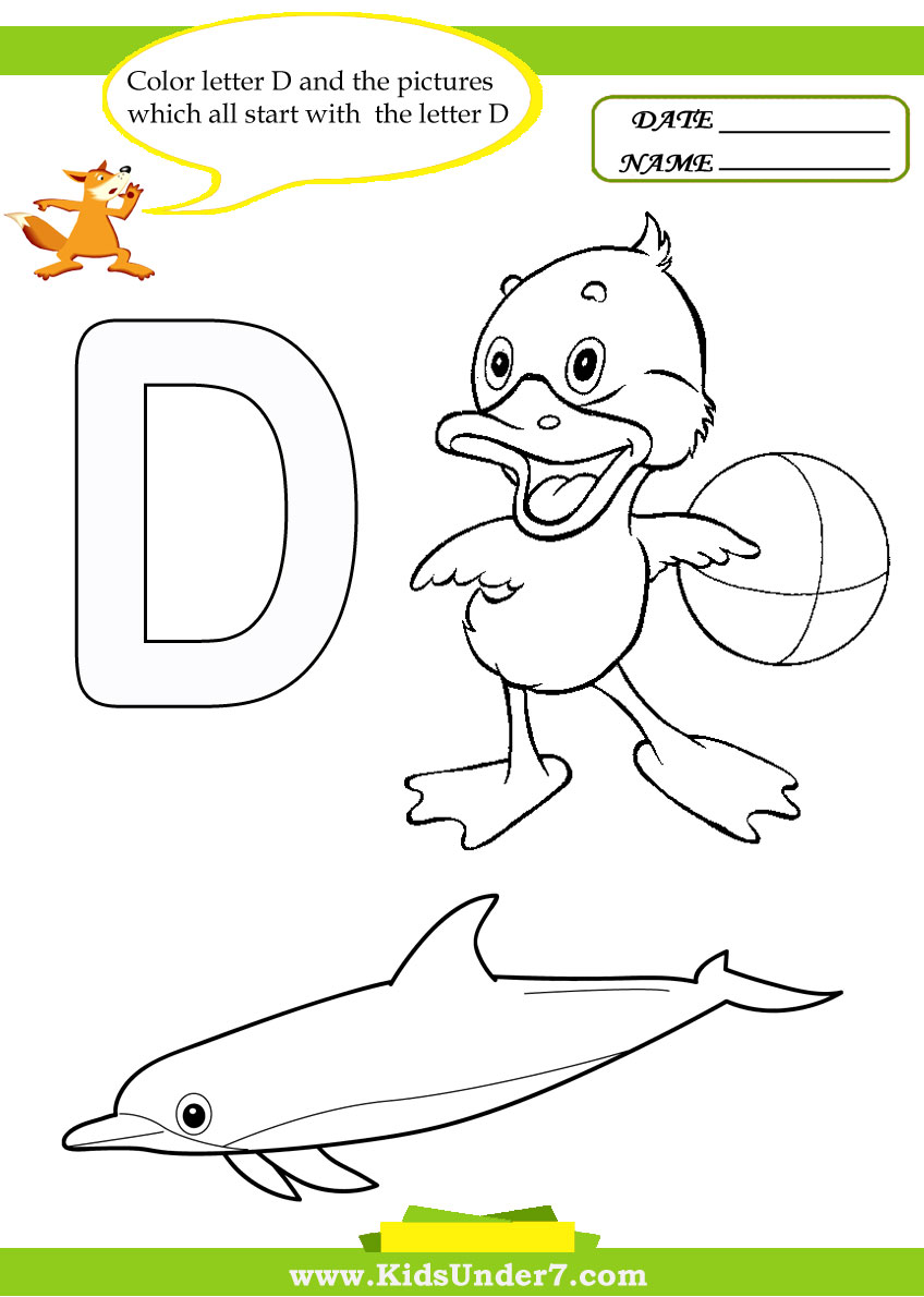 Uncategorized Letter D Worksheet kids under 7 letter d worksheets and coloring pages pages