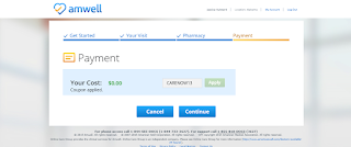 Amwell Payment Screen