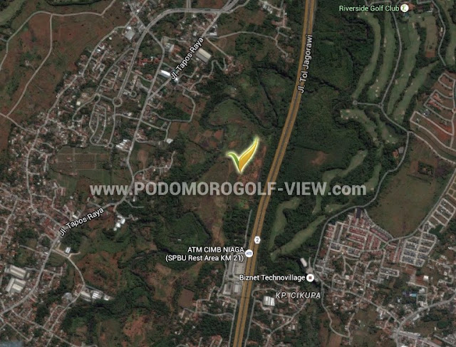 Google Map Podomoro Golf View