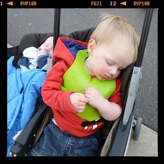 asleep holding an ice cream
