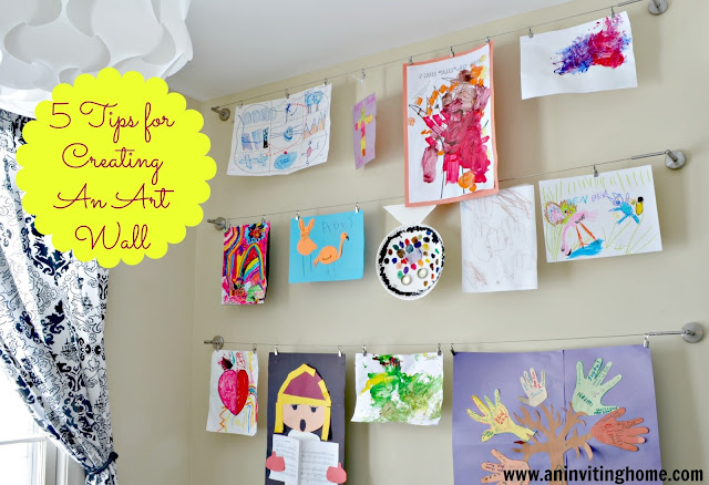 tips for creating a kid's art wall