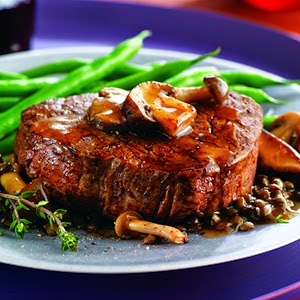 Beef Tenderloin With Savory Saucy Mushrooms and Lentils #Recipe