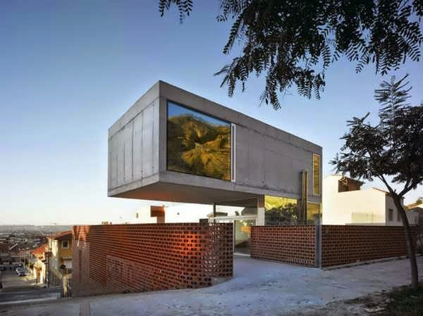 Spain Eclectic House Design Features A Cantilevered