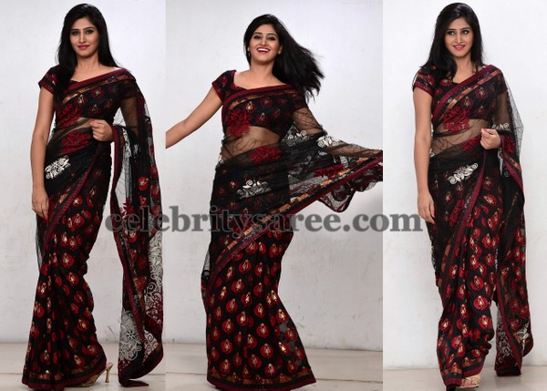 Shamili Black Saree