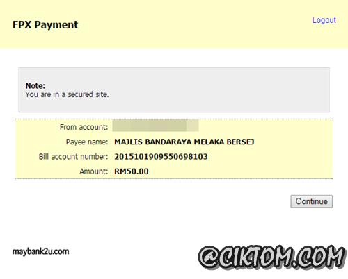 Details FPX Payment
