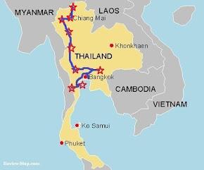 Mapa Tailândia Fábia e Thijs 2017