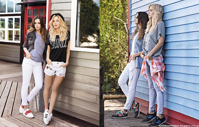 Moda primavera verano 2016 shorts. Wupper Jeans primavera verano 2016.