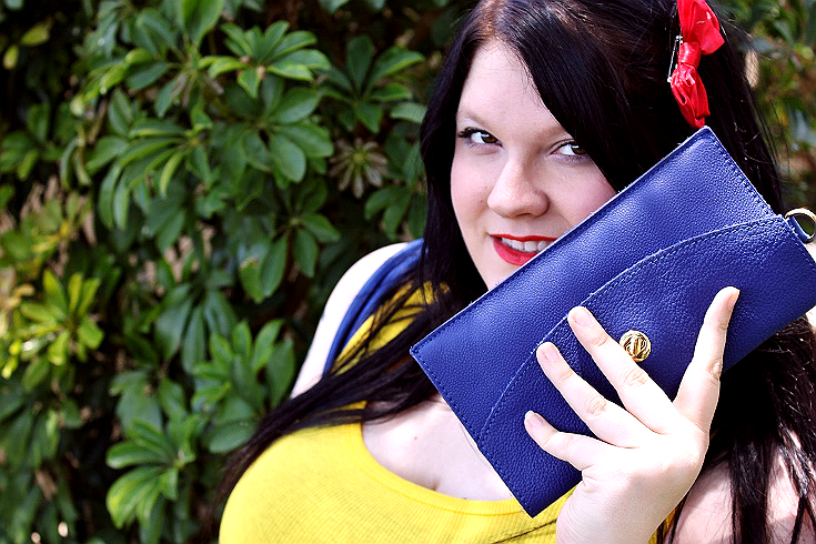 JPop Style with Adora Fine Italian Leather Handbags in Blue, the 'Softest' handbag, featuring a complimentary matching clutch and tether. #FashionistaAdora #sponsored