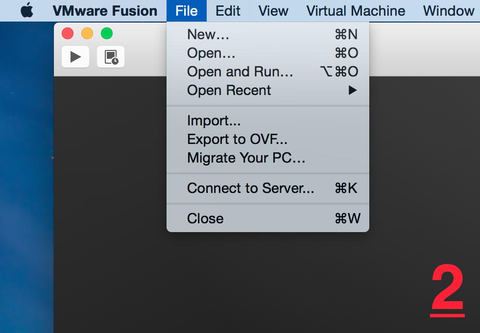 wmware fusion 7 pro file new
