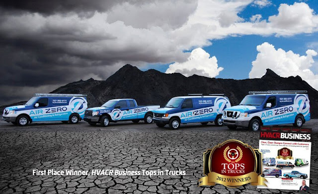 example of best fleet graphics for Heating and Cooling company