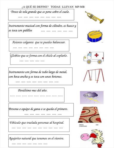 Empiezo 1 y 2 de primaria ortograf a y definiciones for Mp mb scuola primaria