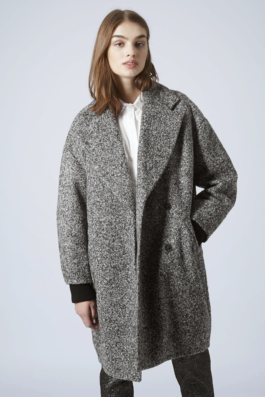 grey cocoon coat
