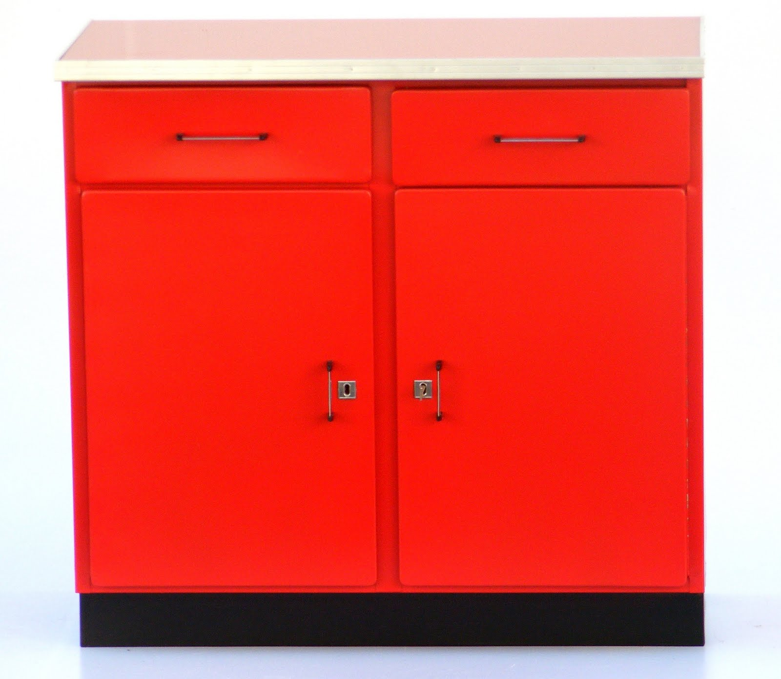 Red Kitchens with Cupboards