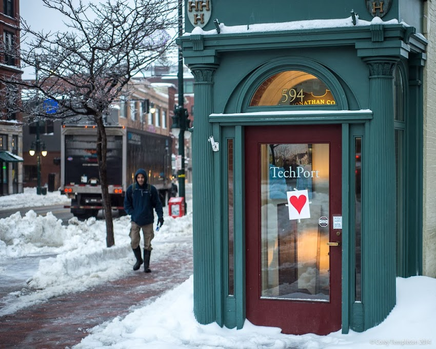 Portland, Maine Valentine's Bandit Phantom Hearts Congress Street photo by Corey Templeton