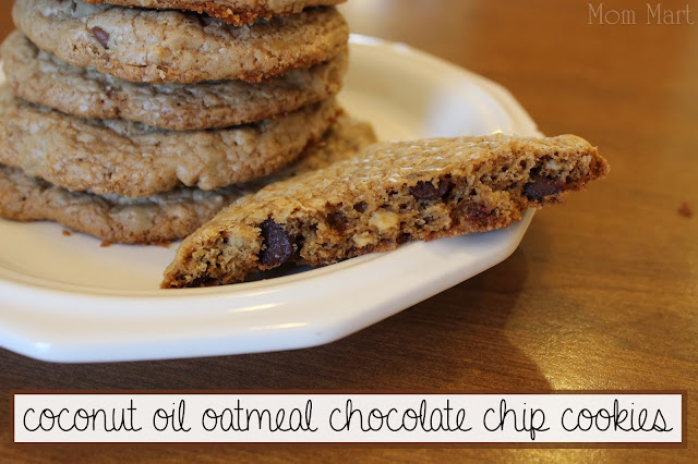 coconut oil oatmeal chocolate chip cookie recipe  #Recipe #Yum #Foodie #Cookie