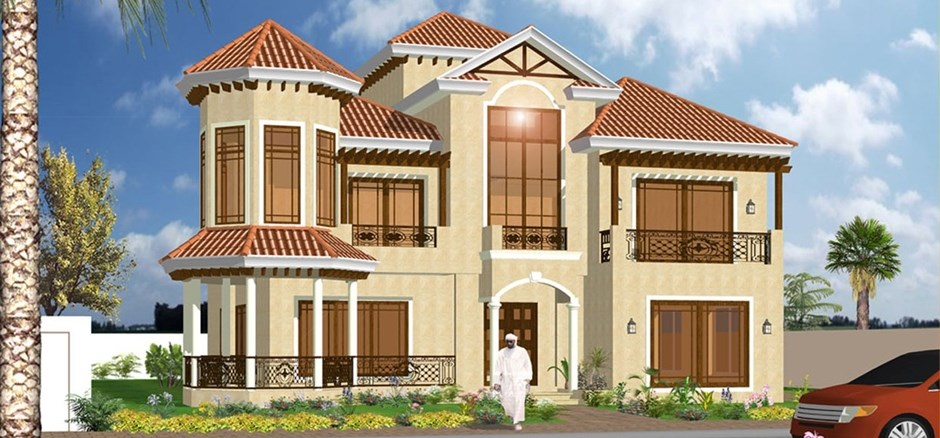 Modern residential villas designs dubai modern home for Villa architecture design plans
