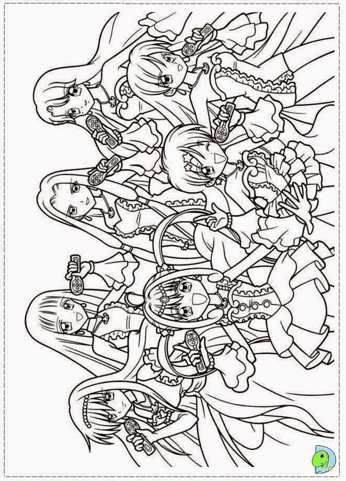 mermaid melody coloring book pages - photo#16