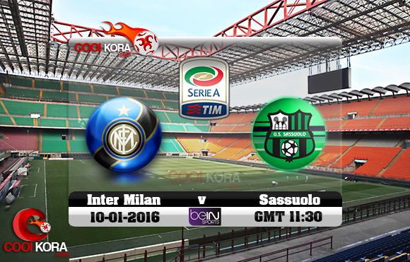 مشاهدة مباراة إنتر ميلان وساسولو اليوم 10-1-2016 في الدوري الإيطالي