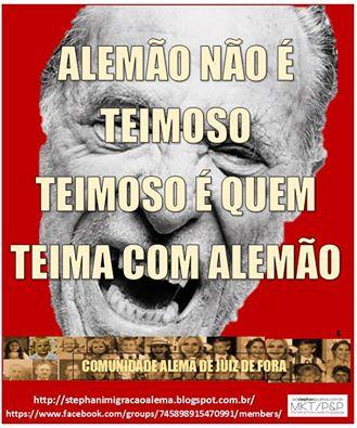 ALEMÃO TEIMOSSO