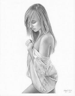 dibujos-lapiz-mujeres hermosas