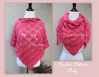 Shells Scarf Shawl Pattern, $4.29