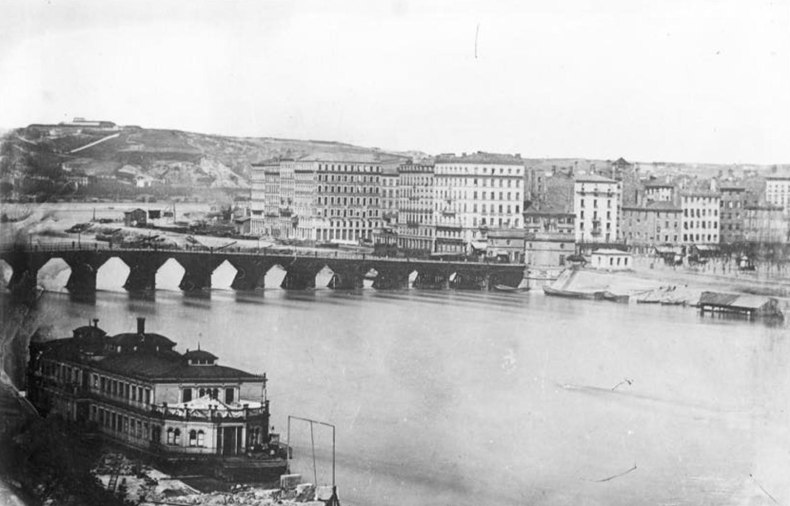 P niches lyon histoire des ponts du rh ne le pont morand - Maison du rhone lyon 8 ...