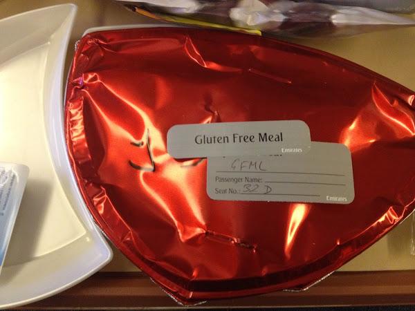 glutenfreies Economy Class Essen bei Emirates