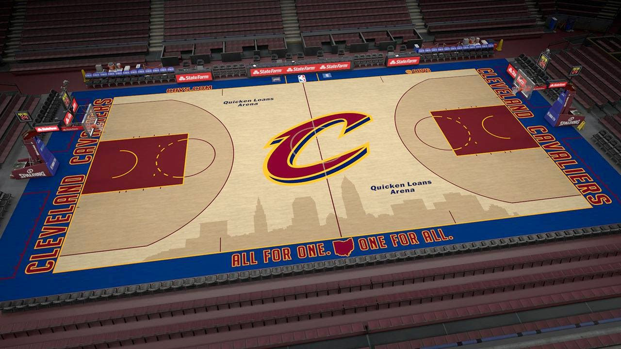 Cavs new court in NBA 2K15