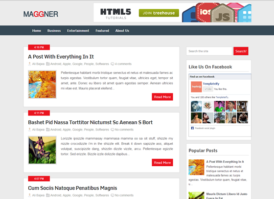 maggner magzine Top best premium blogger template free