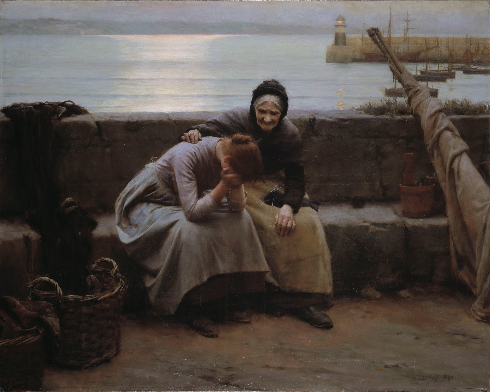 Walter Langley Never Morning Wore to Evening but Some Heart Did  reak
