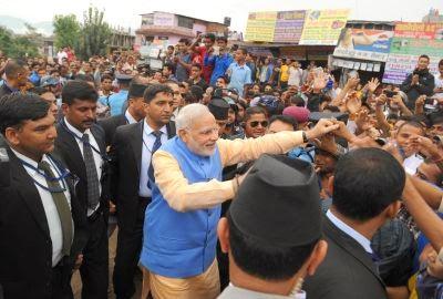 indian prime minister narendra modi in nepal public