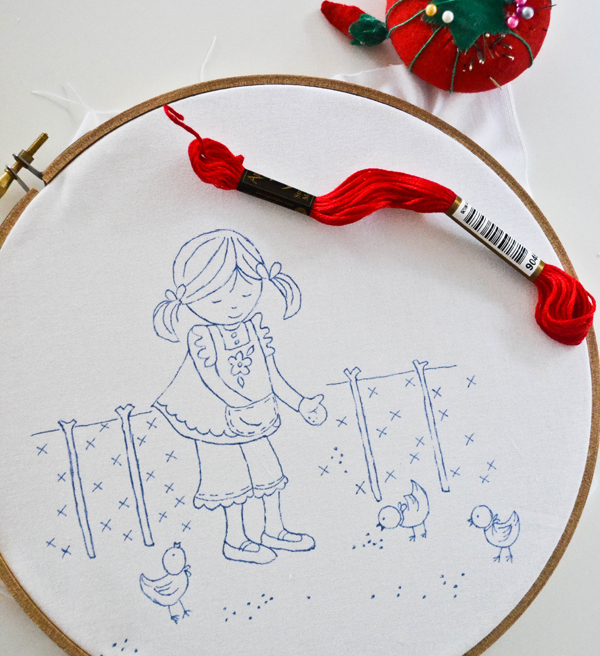 Down grapevine lane tutorial tracing an embroidery pattern