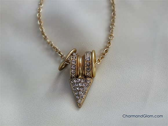 Love Shopping by Ara: Crystal Charm and Arrow Necklace