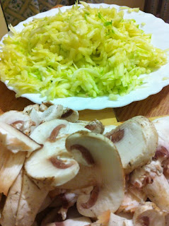 Funghi e zucchine  (vellutata ai gunghi e zuccine Spezio)