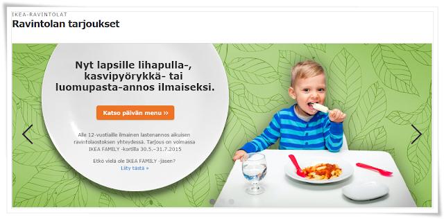 Saron blogi Terveisiä Ikeasta lapset syö kesällä ilmaiseksi & IKEA lähi