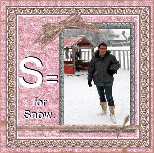 S = for snow