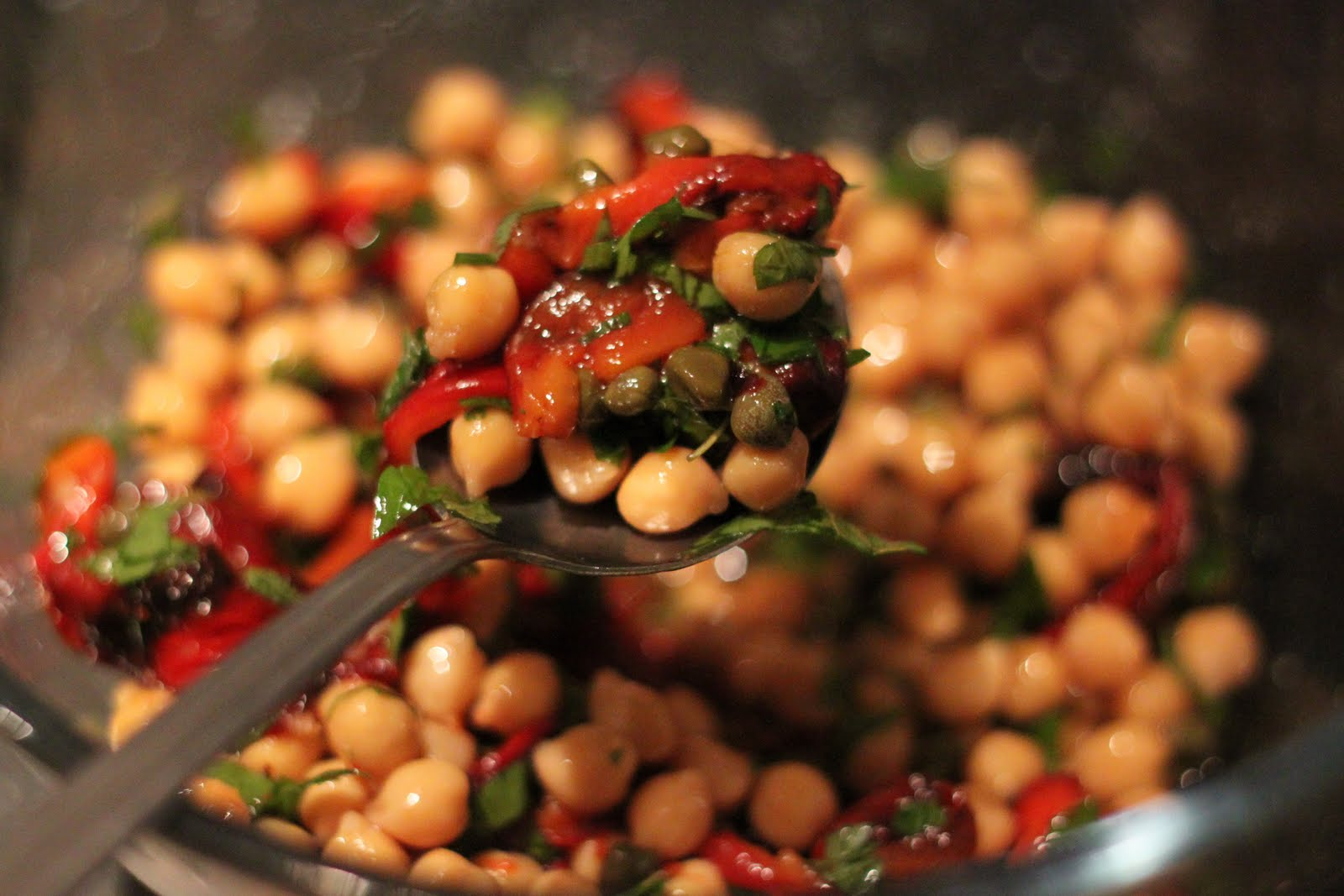 Dine at Mine: Roasted Red Pepper and Chickpea Salad