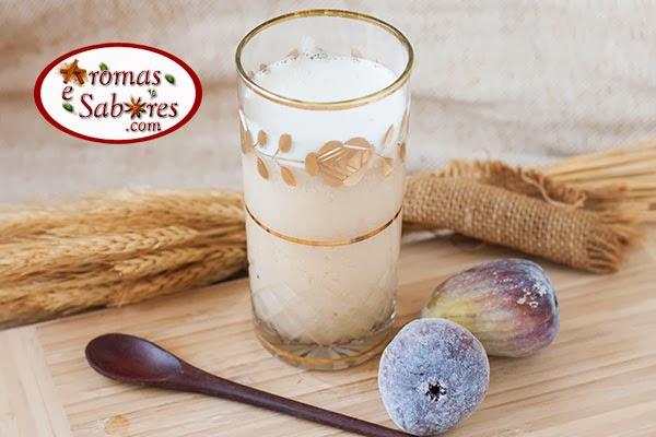 Suco de figo com água de coco
