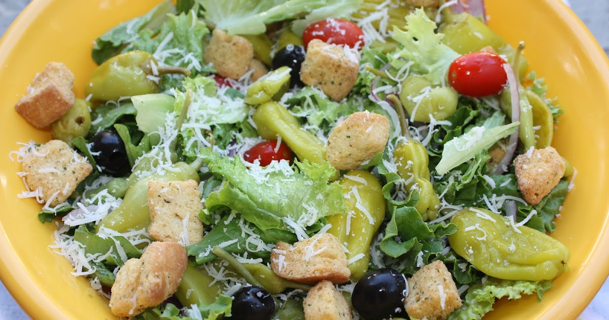 Southern living yankee light olive garden salad for Come on down to the olive garden