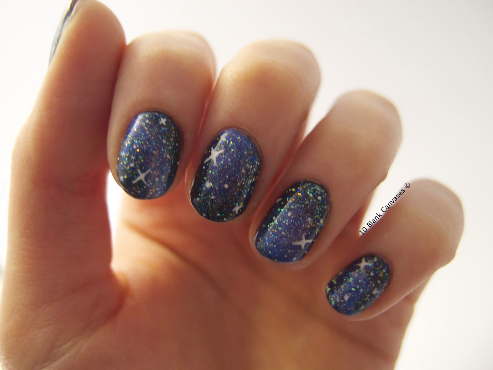 10 Blank Canvases: Galaxy Nails II