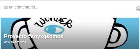 Grupo en FB #soyxqsomos