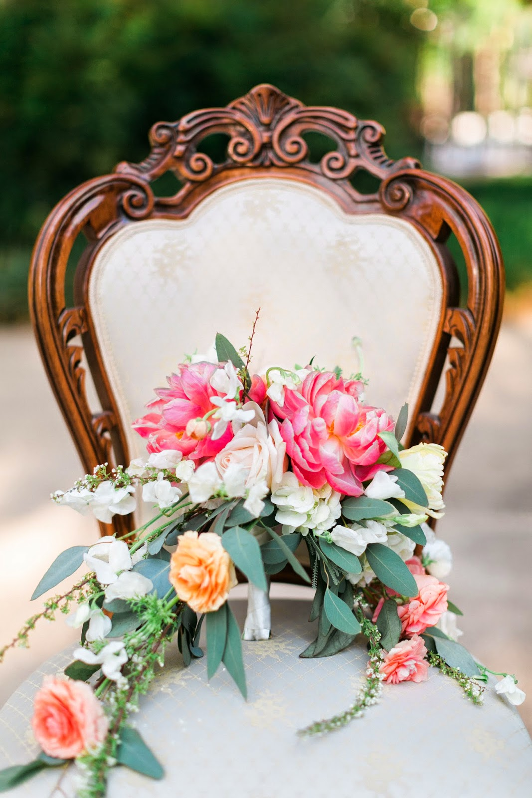 The Blooming Bride, DFW, Fort Worth, Texas, Wedding Flowers, chair decorations, sanford house