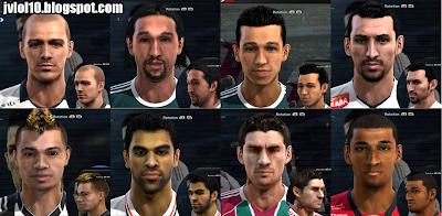 Face+de+Alessandro,+Barcos,+Cicinho,+Edu+Dracena,+F%C3%A1bio+Ferreira,+Maicon,+Rafael+Sobis+e+Welinton+para+PES+2012 PES 2012: Facepack Brasileirão
