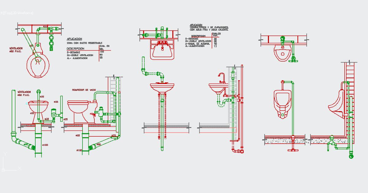Bathroom accessories dwg zent design 2d for Bathroom design 2d